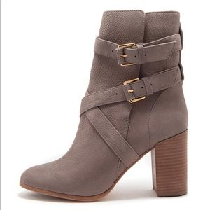 NIB Kate Spade LEXY Suede Taupe Ankle Boots 7